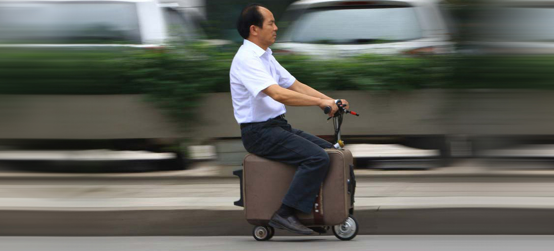 Luggage you can ride: a history of packable scooters.